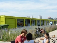 A Shipping Container Cafe View Tube on the London Olympic Site 2