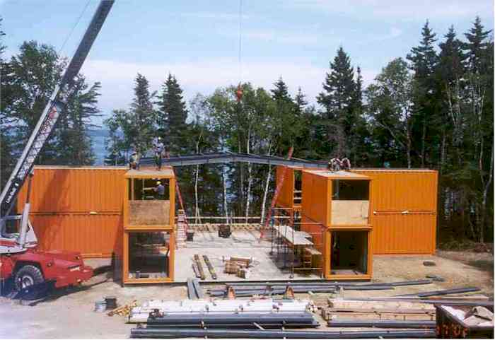 Adam kalkin container building for Building a house in maine