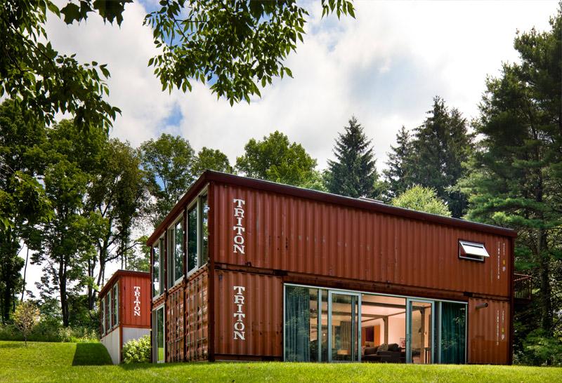 Adam kalkin double storey shipping container house - Kalkin shipping container homes ...