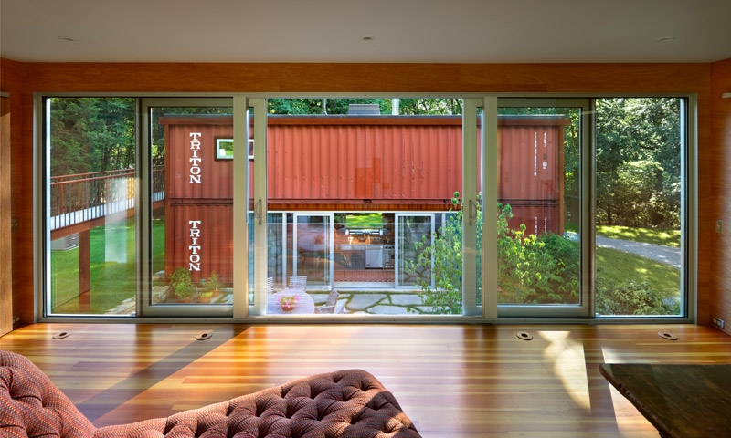 Adam kalkin double storey shipping container house for Where to buy shipping containers for homes