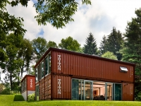 double storey shipping container home