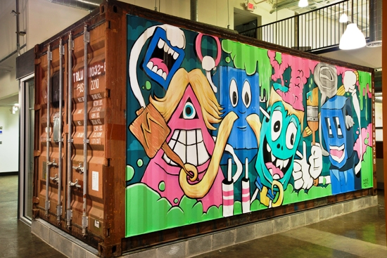 Greg Mikes Recycled Shipping Container Art Project on Shipping Containers As Homes