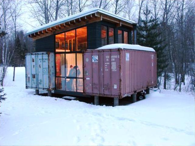 Shipping container cabin - Shipping container home building code ...