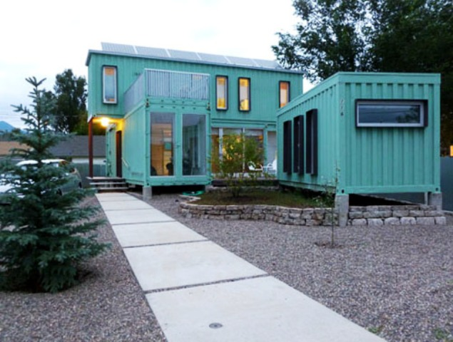 Green Shipping Container Homes 635 x 480