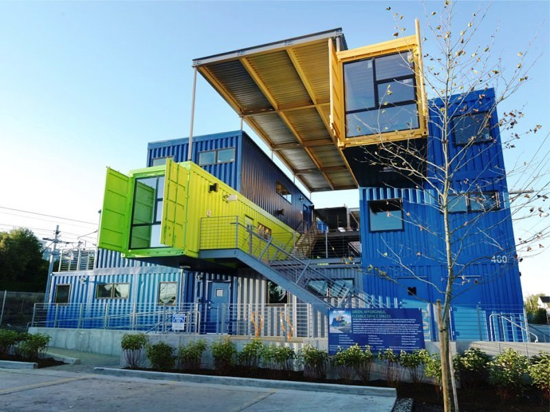 Shipping container buildings the box office shipping container project - Shipping container home building code ...
