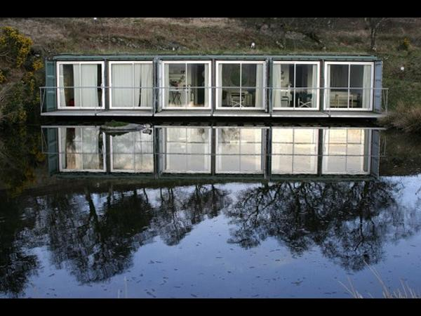 Shipping container retreat the cove park artists retreat - Shipping container home building code ...