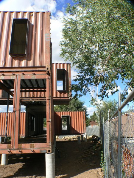 Homes made from shipping containers jones glotfelty shipping container home - Container homes arizona ...
