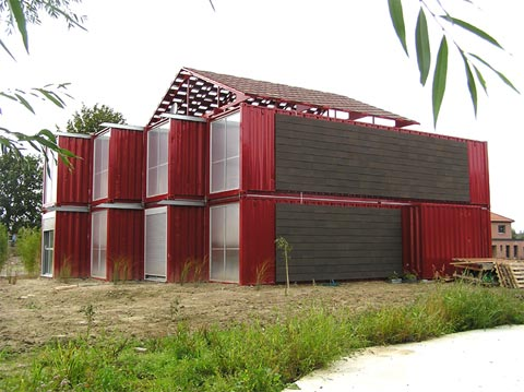 Building a House Out of Shipping Containers The Lille Red