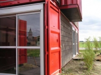 The Lille Red Shipping Container House, Lille, France 7