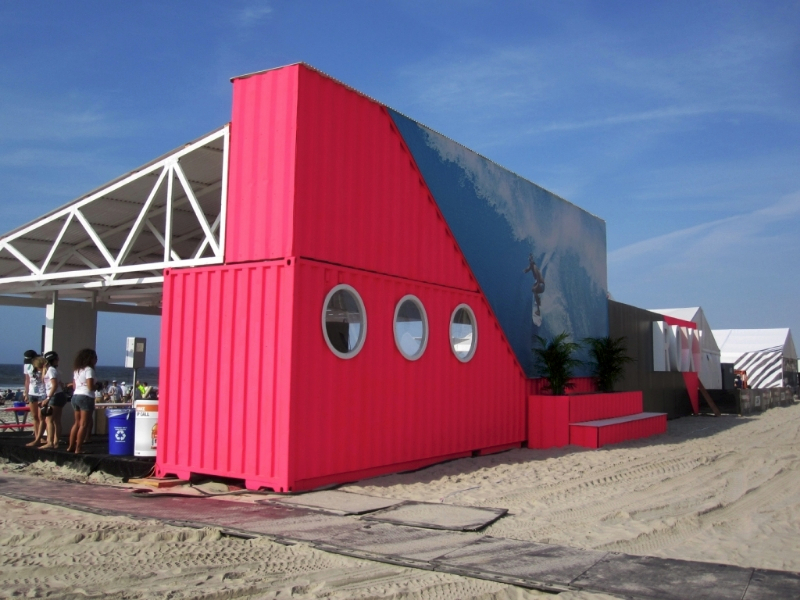 The quiksilver pro new york 2011 shipping container ideas for Structure container maritime