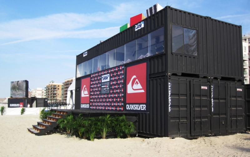 The quiksilver pro new york 2011 shipping container ideas for Architecture container