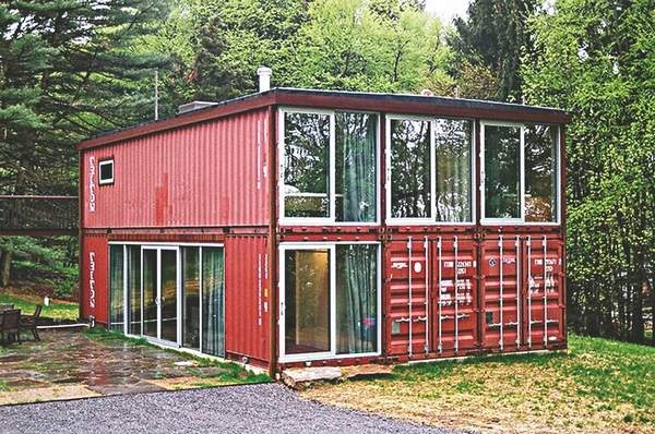 6 x shipping container house