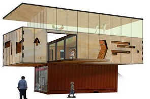 Naked Shipping Container House