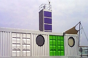 Riverside Shipping Container Building Marketing Suite