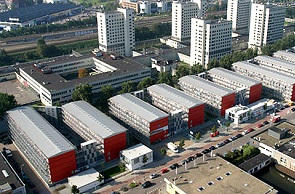Shipping container student housing