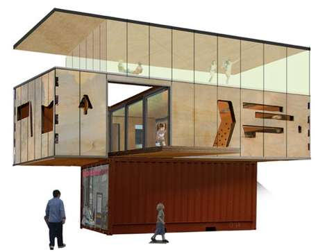 Naked shipping container house - Shipping container homes diy ...