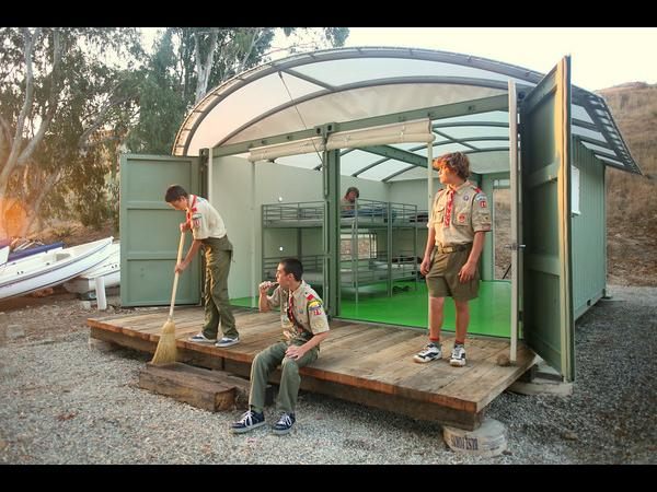 Eco Cabins - The Shipping Container Scouts Camp On Catalina Island